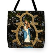 statue of the Virgin Mary in Granada Nicaragua Tote Bag
