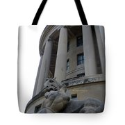 Statue Outside Of Federal Trade Commission Tote Bag