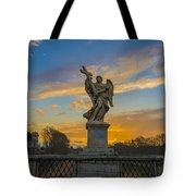 Statue With Cross Tote Bag
