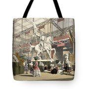 Statues In The Belgium Section Tote Bag