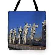 Statues On Facade Of St Peters Tote Bag