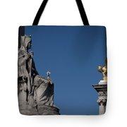 Statues On Pont Alexandre IIi Tote Bag