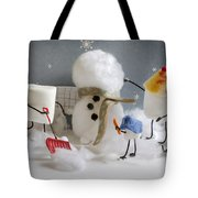 Stay Puff Snowman Tote Bag