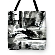 Ste Marie Du Lac Pond And Parish Tote Bag