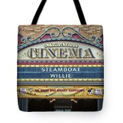 Steam Boat Willie Signage Main Street Disneyland 01 Tote Bag