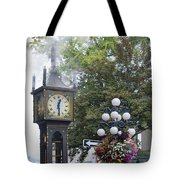 Steam Clock At Gastown In Vancouver Bc Tote Bag