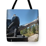 Steam Engine 489 At The Watering At Sublette Station On The Cumbres And Toltec Rr Tote Bag