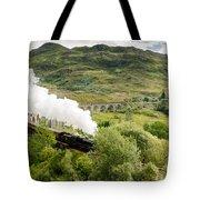 Steam Engine On Glenfinnan Viaduct Tote Bag