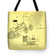 Steam Engine Patent 1869 Tote Bag