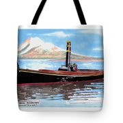 Steam Launch Rose Tote Bag