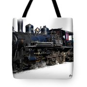 Steam Locomotive Tote Bag by Gunter Nezhoda