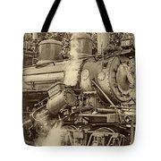 Steam Power Sepia Vignette Tote Bag