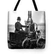 Steam Powered Rail Cart C. 1892 Tote Bag