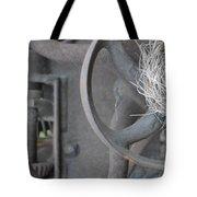 Steam Punk Lawnmower Tote Bag
