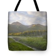 Steam Rising From Moores Hot Springs Tote Bag