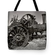 Steam Tractor - Molson Ghost Town Tote Bag by Daniel Hagerman