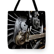 Steam Train Wheels Close Up Tote Bag