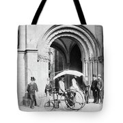 Steam Tricycle, 1888 Tote Bag