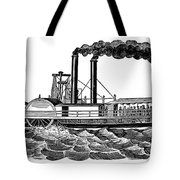 Steamboat, 19th Century Tote Bag