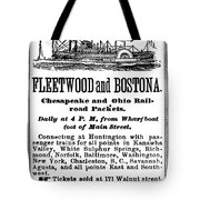 Steamboat Advertisement Tote Bag