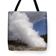 Steamboat Geyser Yellowstone Np Tote Bag