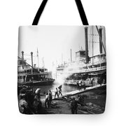 Steamboat Landing, 1906 Tote Bag