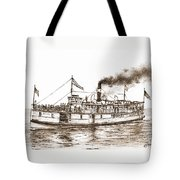 Steamboat Reliance Sepia Tote Bag