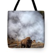 Steamed Bison Tote Bag