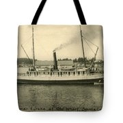Steamer Eureka At Old Whaf Santa Cruz California Circa 1907 Tote Bag