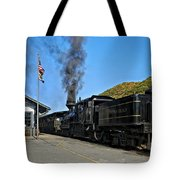 Steaming Away Tote Bag