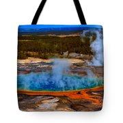 Steaming Rainbow Tote Bag