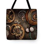 Steampunk - Abstract - Time Is Complicated Tote Bag by Mike Savad