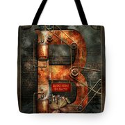 Steampunk - Alphabet - B Is For Belts Tote Bag