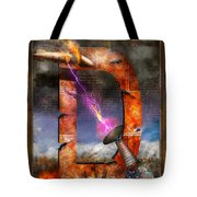 Steampunk - Alphabet - D Is For Death Ray Tote Bag