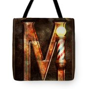 Steampunk - Alphabet - M Is For Mustache Tote Bag