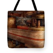Steampunk - Belts - Old School Is Best Tote Bag by Mike Savad