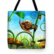 Steampunk - Bugs - Evolution Take Time Tote Bag