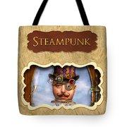 Steampunk Button Tote Bag