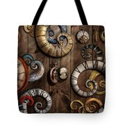 Steampunk - Clock - Time Machine Tote Bag by Mike Savad