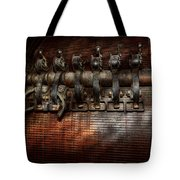 Steampunk - Electrical - Motorized  Tote Bag by Mike Savad
