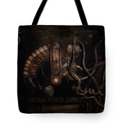 Steampunk - Electrical - Rotary Switch Tote Bag by Mike Savad