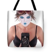 Steampunk Geisha Photographer II Tote Bag