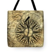 Steampunk Gold Compass Tote Bag
