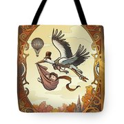 Steampunk Stork Tote Bag
