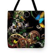Steampunk - Surreal - Mind Games Tote Bag