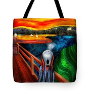 Steampunk - The Scream Tote Bag by Mike Savad