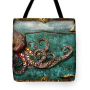 Steampunk - The Tale Of The Kraken Tote Bag