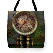 Steampunk - Train - Brake Cylinder Pressure  Tote Bag by Mike Savad