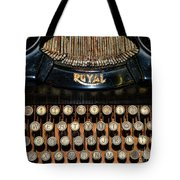 Steampunk - Typewriter -the Royal Tote Bag by Paul Ward