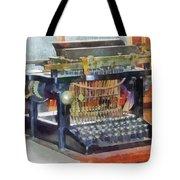 Steampunk - Vintage Typewriter Tote Bag by Susan Savad